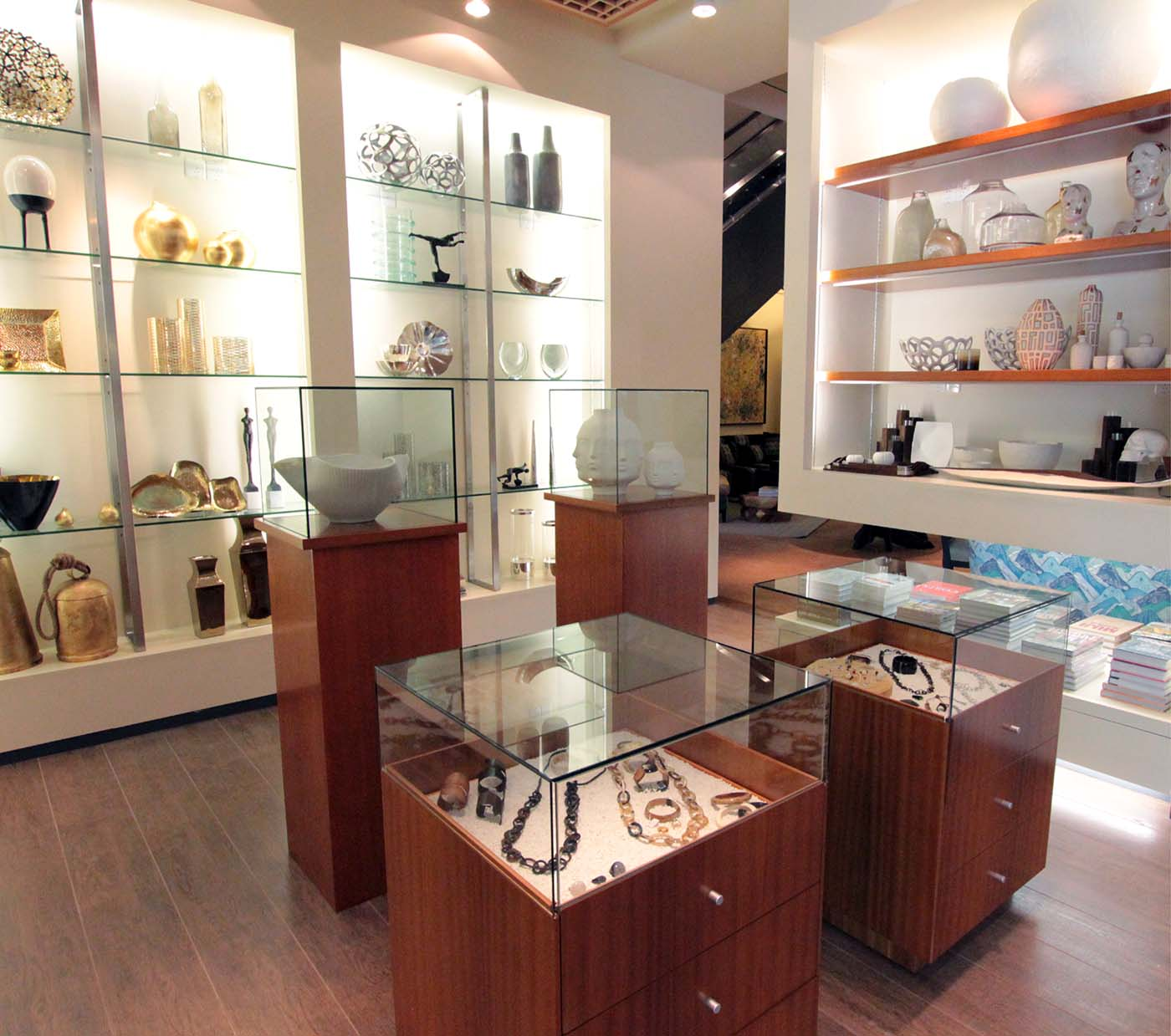 Chinese retail shop showcasing art objects.